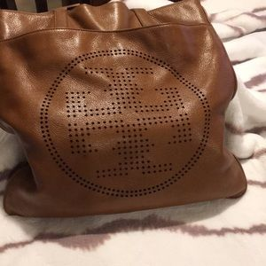 Tory Burch leather logo purse